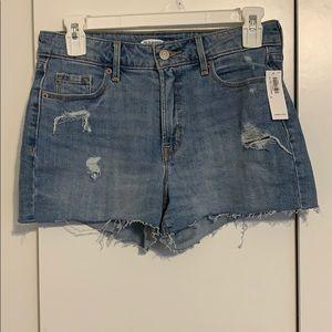 Old navy blue denim shorts